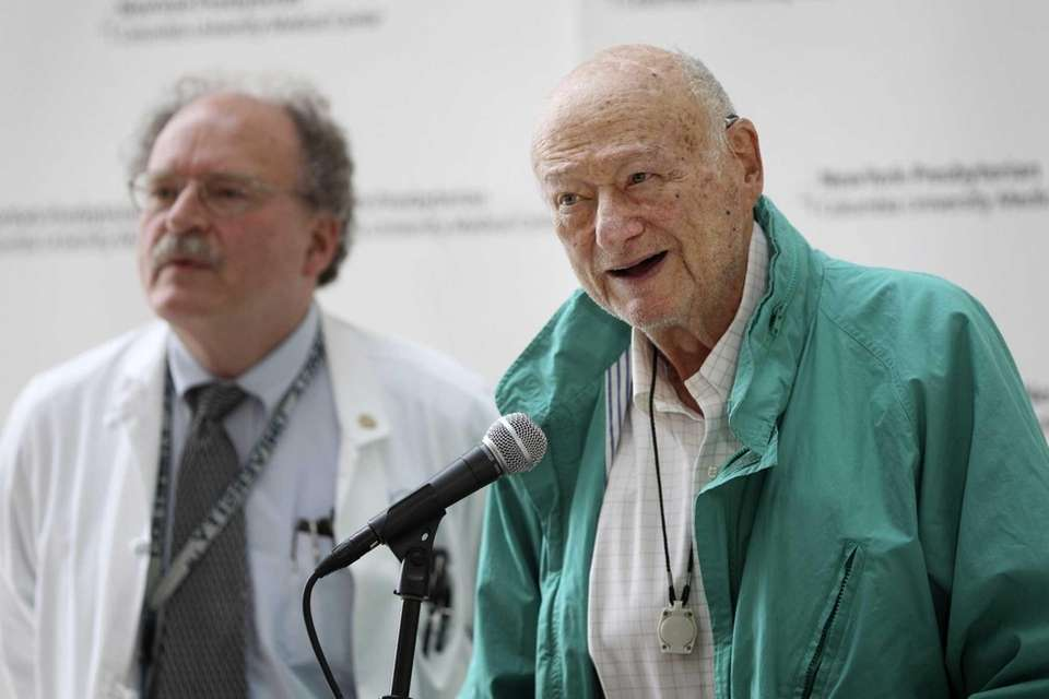 Former New York City Mayor Ed Koch speaks