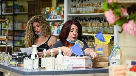Marianna Cucchi, owner of The Soap Box, a