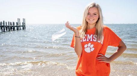 Riley Stotzky, 18, a senior at Hampton Bays