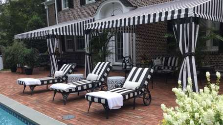 An awning at the Huntington Bay home of