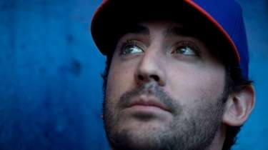 Matt Harvey at spring training on Feb. 16,