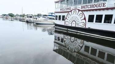 The Patchogue River in Patchogue on Friday.