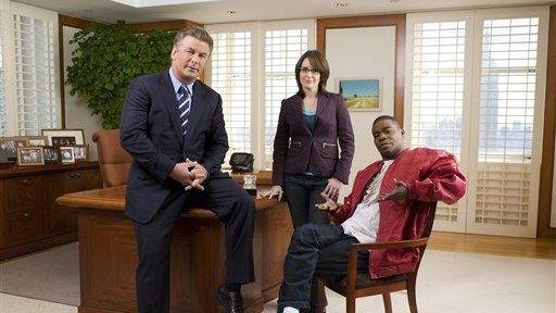 From left, Alec Baldwin as Jack Donaghy, Tina
