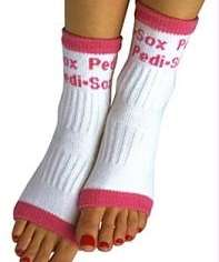 Pedi-sox are ideal for a winter pedicure, $7-10