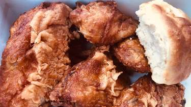 A four-piece box at Buttermilk's Chicken, a new