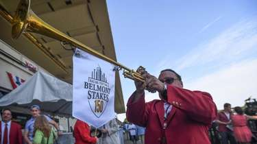 Sam the Bugler at Belmont Park in Elmont