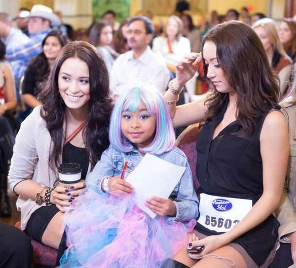 Contestants wait for their chance to audition in