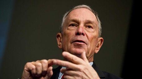 New York City Mayor Michael Bloomberg speaks at