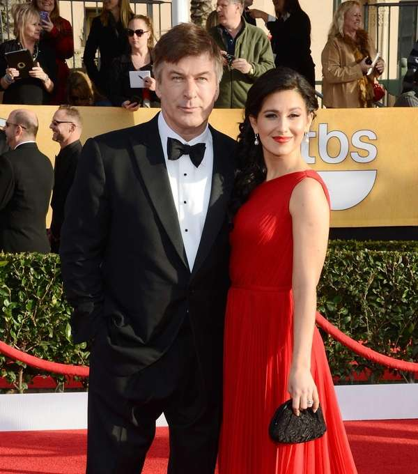 Actor Alec Baldwin and Hilaria Thomas attend the
