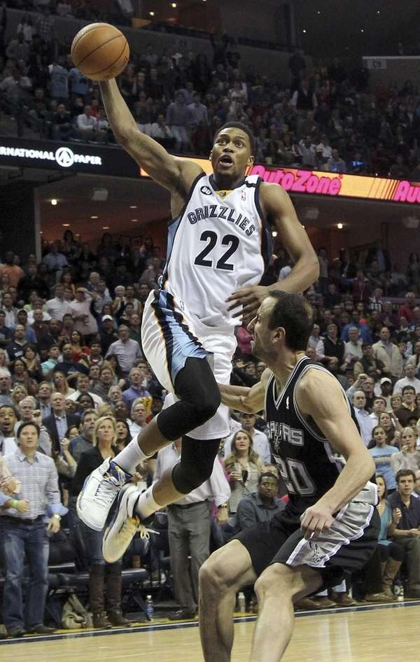 Memphis Grizzlies forward Rudy Gay goes to the