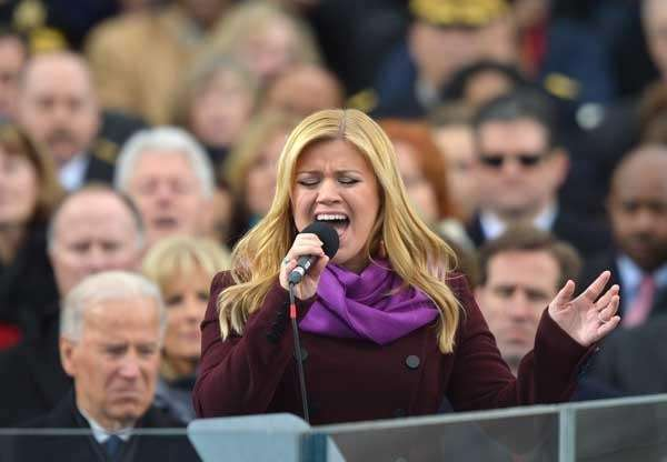 Kelly Clarkson performs during the 57th Presidential Inauguration
