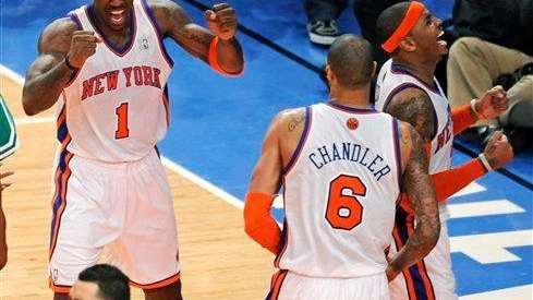 Amare Stoudemire (1), Tyson Chandler (6), Carmelo Anthony