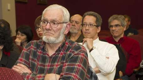 Concerned residents at a community meeting that was