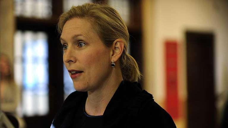 U.S.Senator Kirsten Gillibrand speaks at a press conference