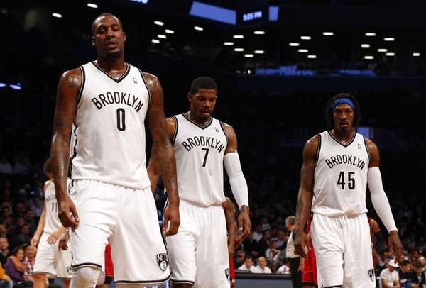 Andray Blatche, Joe Johnson and Gerald Wallace look