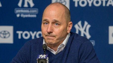 New York Yankee GM Brian Cashman speaking at