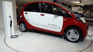 The electric powered i-Miev car was part of