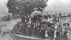 In 1904, spectators view the Vanderbilt Cup Race,