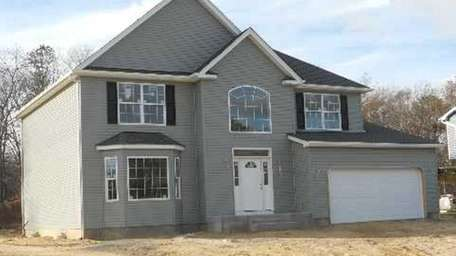 The newly constructed home on Terryann Court in
