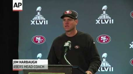 San Francisco 49ers head coach Jim Harbaugh says