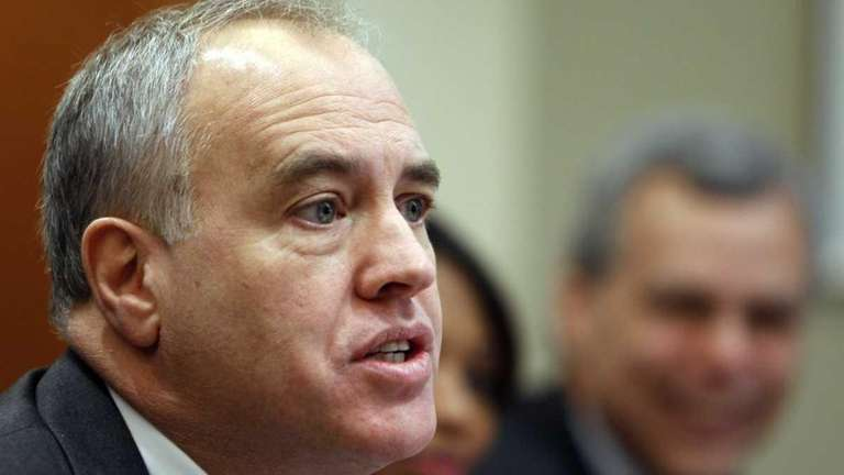 New York State Comptroller Thomas DiNapoli appears in