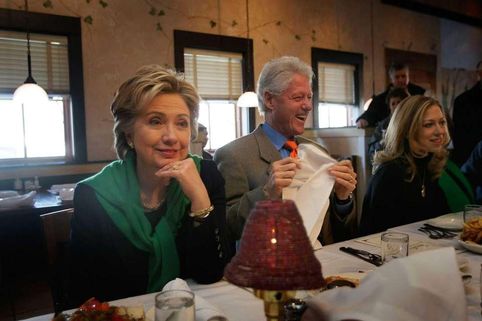 Democratic presidential candidate Sen. Hillary Clinton (D-NY) and