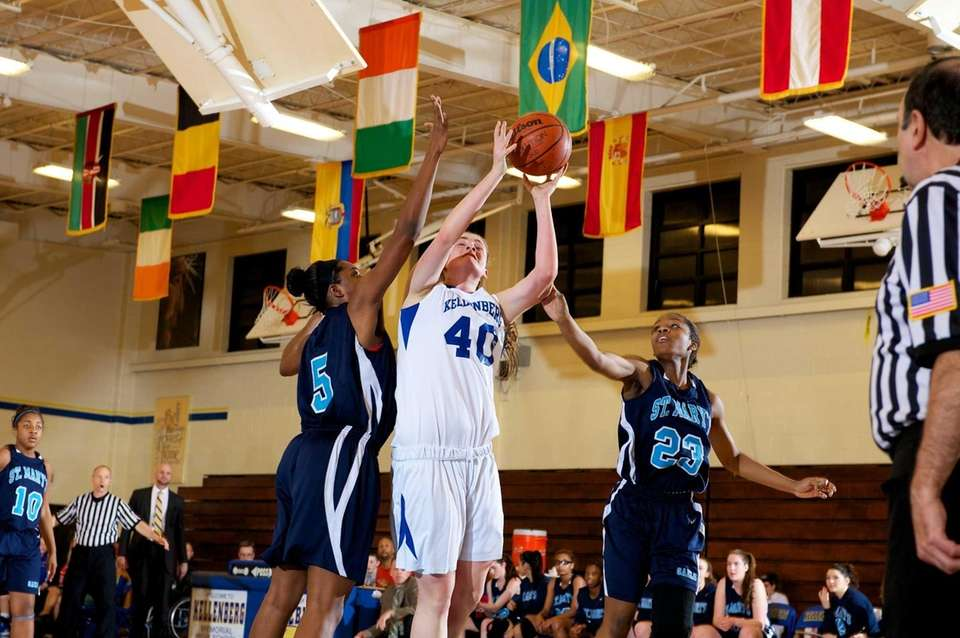 Kellenberg forward Candace Belvedere (40) attempts a shot
