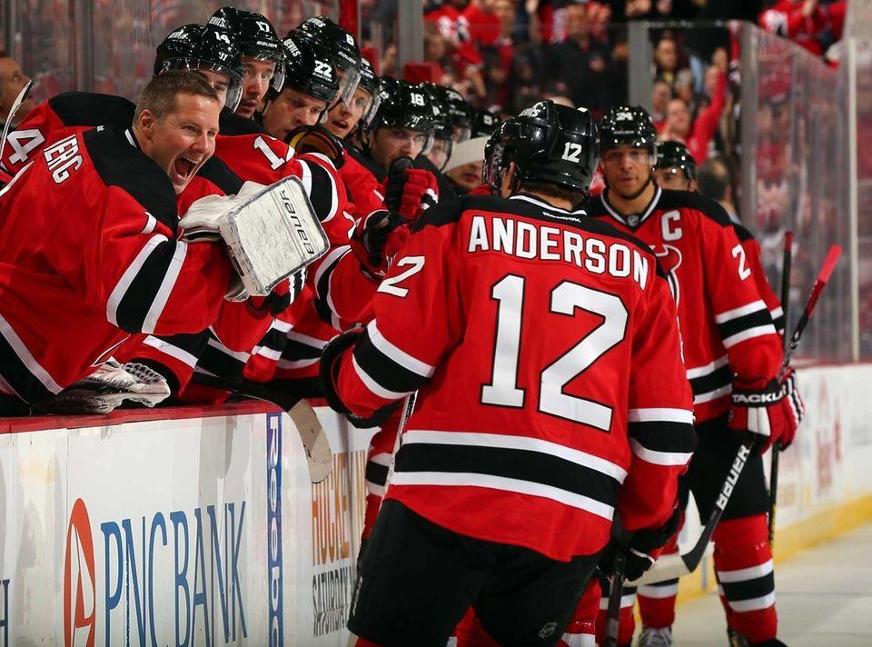 Matt Anderson #12 of the New Jersey Devils