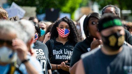 A Black Lives Matter protest begins at Pratt