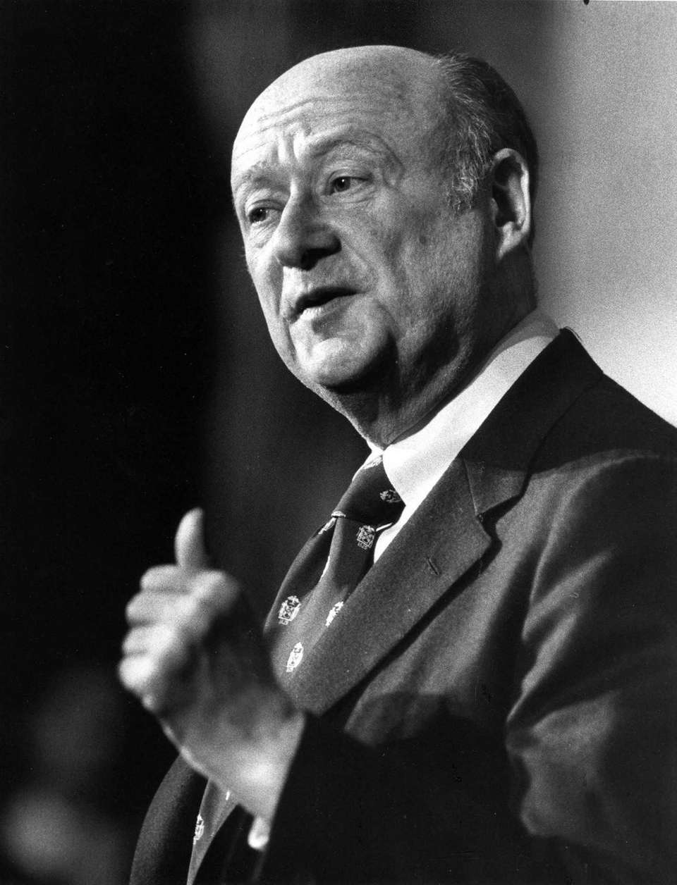 Mayor Ed Koch at the conclusion of the