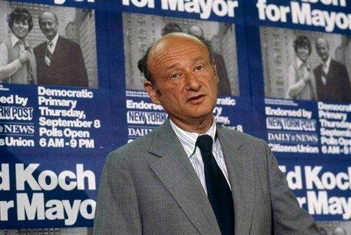 New York City mayoral candidate Ed Koch in