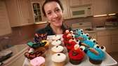 Nicola Ingrassia with some of the cupcakes she