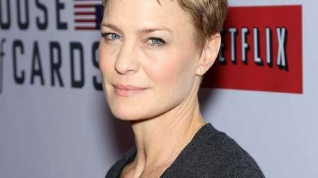 Robin Wright at the premiere of the Netflix