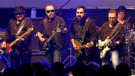 Blue Öyster Cult performs in 2017.