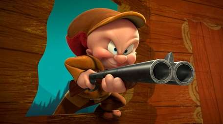 """Elmer Fudd (and hunting rifle) in 2012's """"Daffy's"""