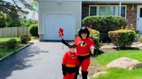 Valerie Chiuchiolo of Nesconset and her son, Dominick,
