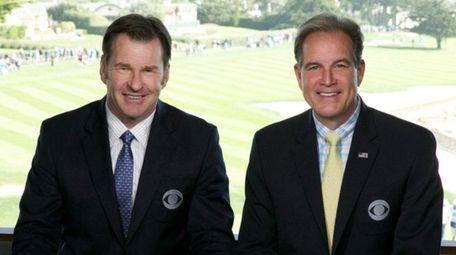 Nick Faldo and Jim Nantz on the CBS