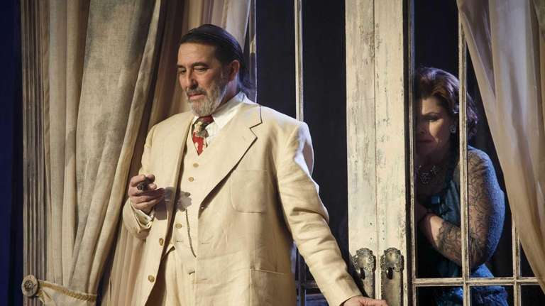 Ciarán Hinds, left, and Debra Monk during a