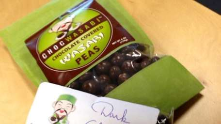 Chocwasabi's chocolate-covered wasabi peas may -- or may