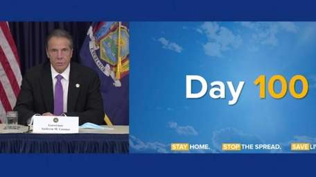 Gov. Andrew M. Cuomo, at his daily COVID-19