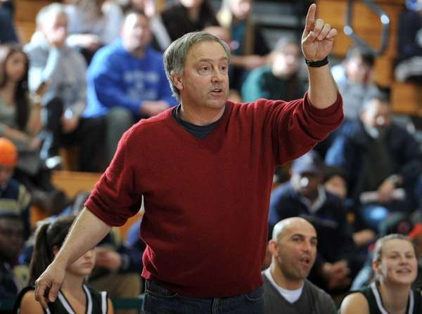 Farmingdale head coach Pete Cerrone reacts during the