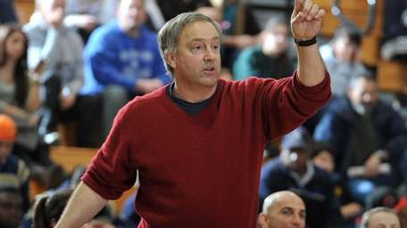 Farmingdale head coach Pete Cerrone reacts during the