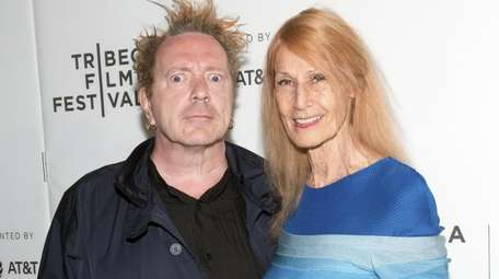 John Lydon and his wife, Nora Forster, at