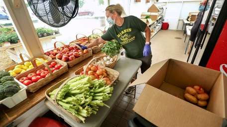 Dawn Zurek, manager of the farm stand at