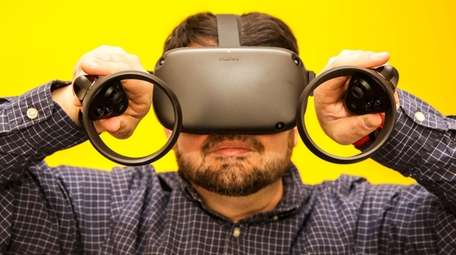 Oculus Quest provides an immersive virtual-reality experience with
