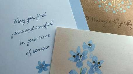 Sympathy cards are in short supply at some