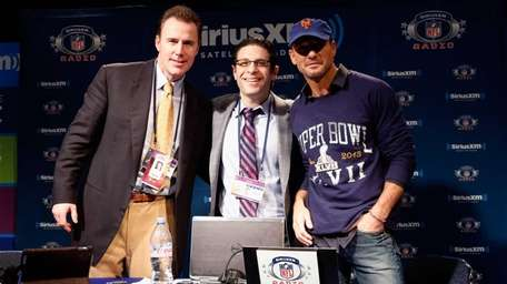 From left to right, hosts Rich Gannon, Adam