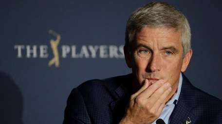 PGA Tour Commissioner Jay Monahan is shown during
