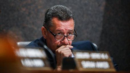 Suffolk County Legislator Samuel Gonzalez during a meeting