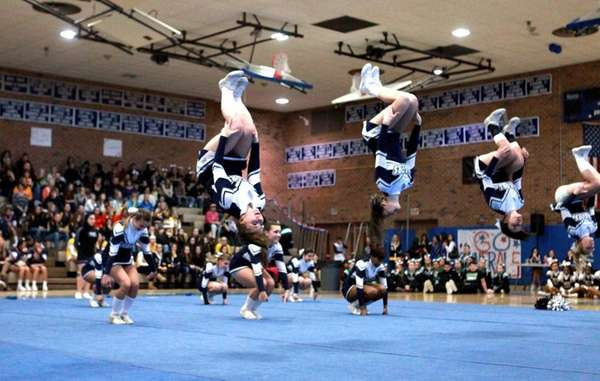 Members of the Oceanside High School medium varsity